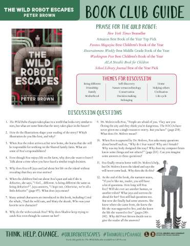 the wild robot escapes by peter brown hachette book